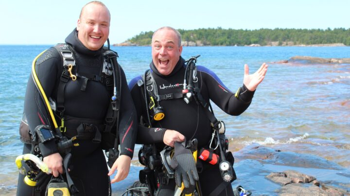 ray and justin scuba diving in killarney